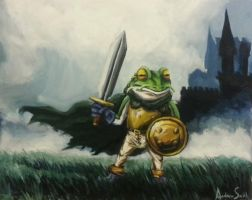 Frog Knight with whiskers by AndrewChristiansen