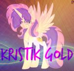 [AT] Kristik Gold (W/Background|Effects) by CupcakePieMLPCUTE