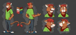 Commission: Toby's Reference Sheet by Temiree