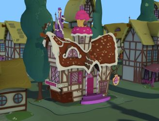 My Little Pony - Sugercube Corner(Exterior)[Poser] by Naduron0
