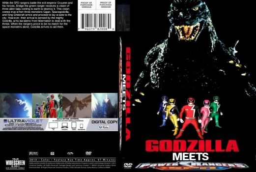 Godzilla meets Power Rangers SPD DVD cover by SteveIrwinFan96