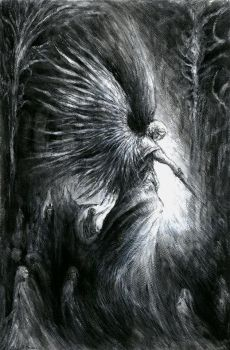 Abaddon - drawing on paper by masiani