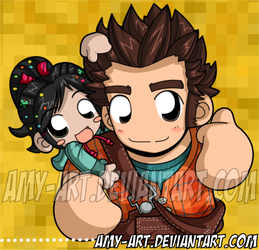 Wreck-It Ralph by amy-art