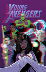 Young Avengers by Jamie McKelvie in 3D Anaglyph by xmancyclops