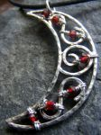 Garnet Moon Necklace 2 by MoonLitCreations