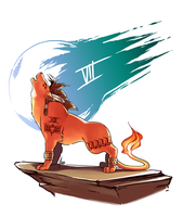 Commission - Red XIII by yinza