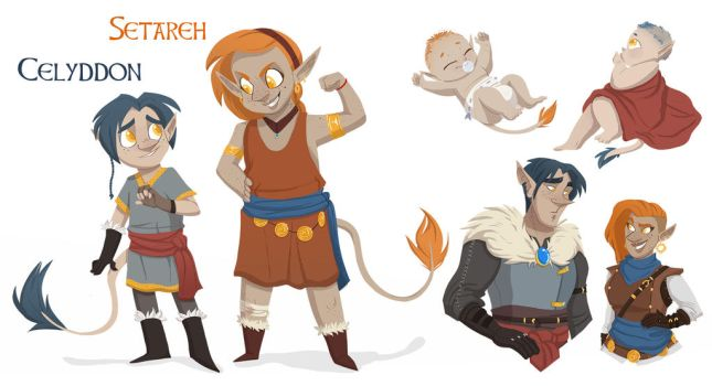 Character Trade: Amy and Alan Babies by Bubba-Smith