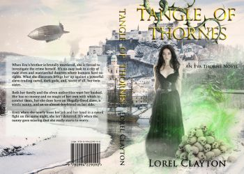Book cover - Tangle of Thorns by Lorel Clayton by CathleenTarawhiti