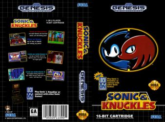 VHS Genesis| Sonic and Knuckles - Cover Art by Neo-the-Hedgefox