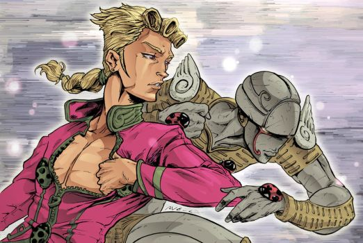 Giorno Giovanna and Gold Experience by StarExtinction