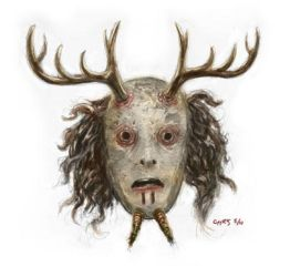 Wood Spirit Mask colored by ChrisChuckry