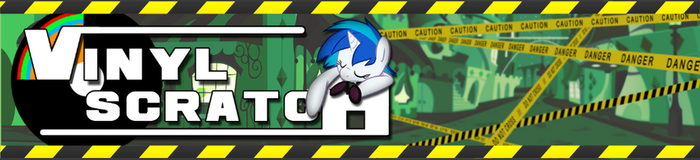 Vinyl Scratch Banner by TheMoliminous
