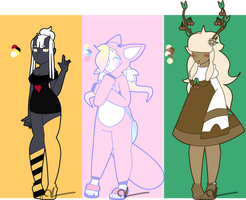(OTA/Auction) Not-Quite-Human adopts- 3/3 CLOSED by XxHoodie--MonsterxX
