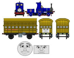 Tanya the track inspection engine and Rebecca the  by Plokman626