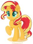 Sunset Shimmer vector moviestyle by JoeMasterPencil