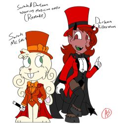 Sarah and Darleen Magician Outfit Remake by AllenGutairHero