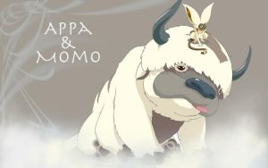 Appa and Momo by PirateFairy