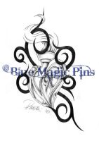 N and D in heart tribal by anchica