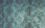Teal Brown Grunge Damask by R2krw9