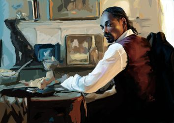 Portrait of Snoop Dogg by cheatingly