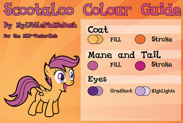 Scootaloo Colour Guide - UPDATED by Atmospark