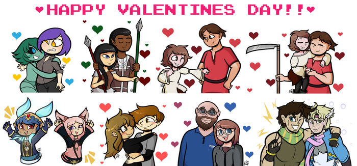 Valentines Day Collage 2018 by DuckyDeathly