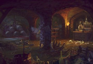 Mysterious Signs- cellar by DartGarry