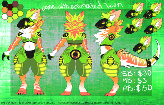 Exotic Protogen design #5 auction -CLOSED by NazaKiru
