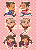 Ace Attorney double sided charms!! by alicenpai