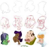 some more head shapes by ShaneCorn