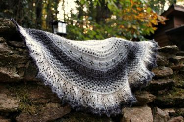 Summer Flies Half Shawl by emiko42