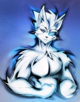 BLUE SKETCH OF WOLF O'DONNELL by WhiteFox89
