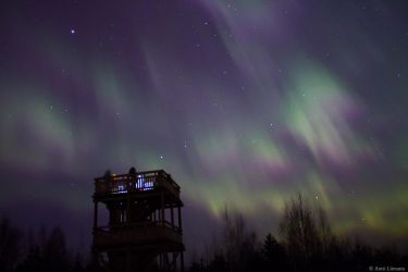 Aurora Over a Watch Tower #2 by Antza2