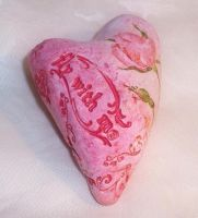 Polymer Clay Fimo Heart Rose by ValerianaSolaris