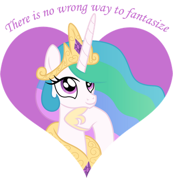 Princess Celestia Fantasize by CloudyGlow