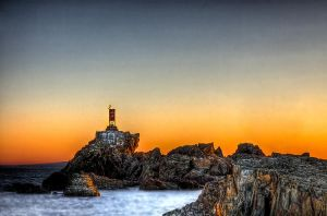 Light Beacon Break Water HDR by Witch-Dr-Tim