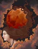 Lady of the Lunar Eclipse by misellapuella