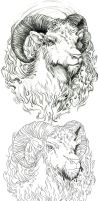 aries tattoo design by endofnonentity