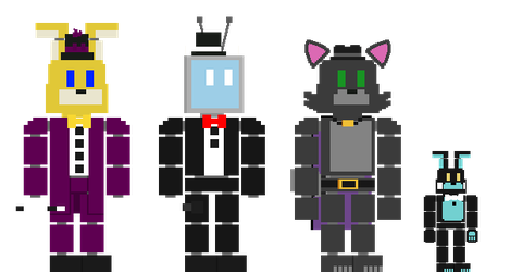 8-Bit YellowBonnie01 And Friends V2 by YellowBonnie01
