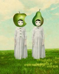 Orchard Twins by artandghosts