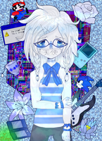 -Blue Glitch- by MikuBlazeTheKat