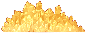 Decorative Crystals (Gold - F2U!) by DominickLuhr