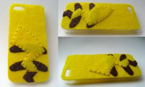 Pikachu Phone Case - for sale! by P-isfor-Plushes