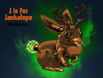 J is for Jackalope by holaso