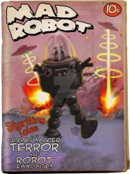 Mad Robot Fake Pulp Cover by sicklilmonky