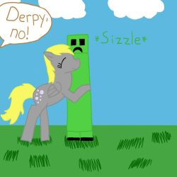 Derpy Hugging A Creeper by pegasister1