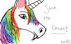 Steve The Unicorn by ravinniaofcreed