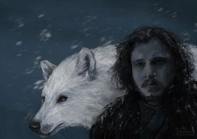 Game of Thrones Jon Snow Fan Art by vekirez