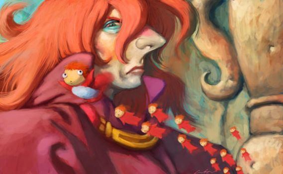 ponyo on the cliff by the sea by cuson