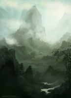 Cloudy Valley by ehecod